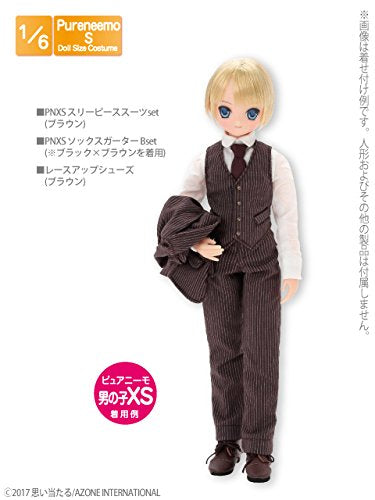 Doll Clothes - Pureneemo Original Costume - PureNeemo XS Size Costume - Three Pieces Suits Set - 1/6 - Brown (Azone)