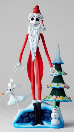 Image 4 for The Nightmare Before Christmas - Jack Skellington - Zero - Revoltech - Revoltech SFX #017 - Santa Ver. (Kaiyodo)