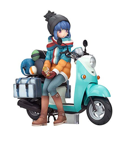 Yuru Camp△ - Shima Rin - 1/10 - with Scooter (Alter)