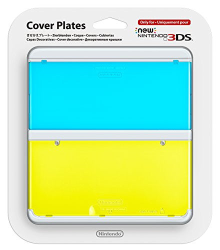 Image 1 for New Nintendo 3DS Cover Plates No.021 (Clear Blue & Yellow)