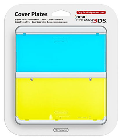 Image for New Nintendo 3DS Cover Plates No.021 (Clear Blue & Yellow)