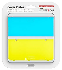 New Nintendo 3DS Cover Plates No.021 (Clear Blue & Yellow)