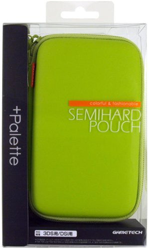 Image 1 for Palette Semi Hard Pouch for 3DS (Lime Green)