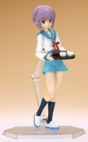 Image 6 for Suzumiya Haruhi no Yuuutsu - Nagato Yuki - Figma #015 - Evil Witch, School Uniform (Max Factory)