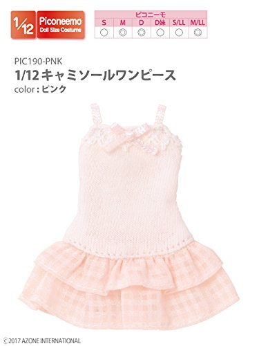 Doll Clothes - Picconeemo Costume - Camisole Dress - 1/12 - Pink (Azone)