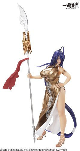 Image 6 for Ikki Tousen Xtreme Xecutor - Kan'u Unchou - 1/4.5 - Chinese Dress Gold Ver. (A+)