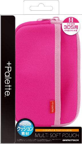 Image 1 for Palette Multi Soft Pouch for 3DS (Rose Pink)
