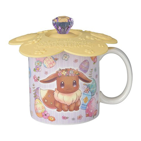 Pocket Monsters - Eievui - Pikachu - Mug Cup with Lid - Pikachu & Eievui's Easter