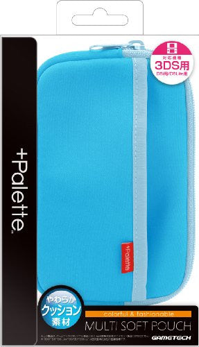 Image 1 for Palette Multi Soft Pouch for 3DS (Sky Blue)