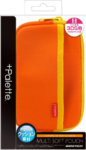 Image 1 for Palette Multi Soft Pouch for 3DS (Sunset Orange)