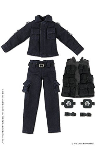 Doll Clothes - Picconeemo Costume - BDU & Tactical Vest Set - 1/12 - Navy (Azone)