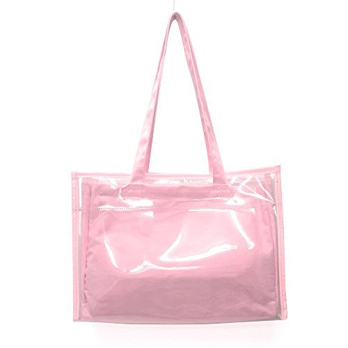 Image 1 for Ita Bag - Clear Tote Bag - Candy Pink