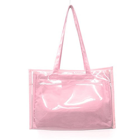 Image for Ita Bag - Clear Tote Bag - Candy Pink