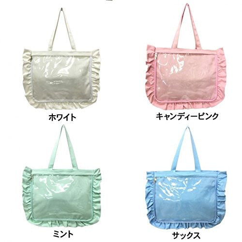 Image 5 for Ita Bag - Clear Tote Bag - Frills - White