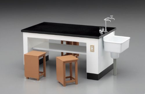 Image 2 for 1/12 Posable Figure Accessory - Science Room Desk and Chairs - 1/12 (Hasegawa)