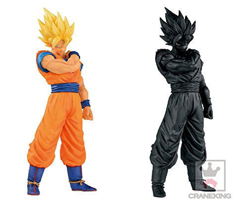 Image 1 for Son Goku SSJ Resolution of Soldiers Vol.1 Dragon Ball Z (2 figure set color & black)