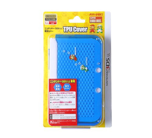 Image 2 for Super Mario Bros. TPU Cover for 3DS LL (Blue)