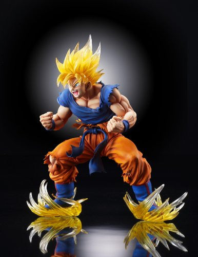Image 7 for Dragon Ball Kai - Son Goku SSJ - Super Figure Art Collection - 1/8 - Ver. 2 Clear Hair Ver. (Medicos Entertainment)
