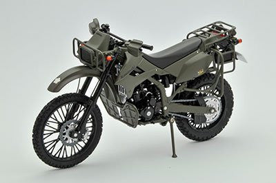 Image 1 for Little Armory LM001 - Ground Self Defense Force Reconnaisance Motorcycle Kawasaki KLX250 - 1/12 (Tomytec)