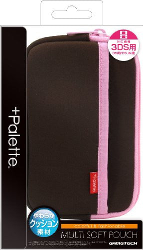 Image 1 for Palette Multi Soft Pouch for 3DS (Chocolate Pink)