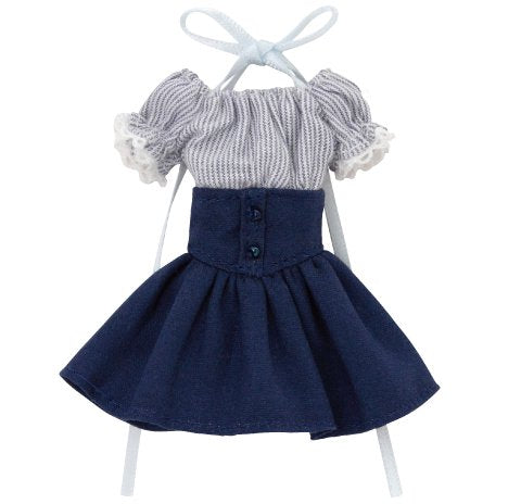 Doll Clothes - Picconeemo Costume - Off-shoulder Sunny One-piece - 1/12 - Navy Stripes x Navy (Azone)