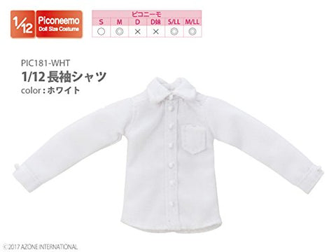 Doll Clothes - Picconeemo Costume - Long Sleeve Shirt - 1/12 - White (Azone)