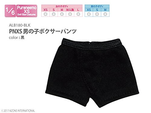 Doll Clothes - Pureneemo Original Costume - PureNeemo XS Size Costume - Boys Boxer Briefs - 1/6 - Black (Azone)