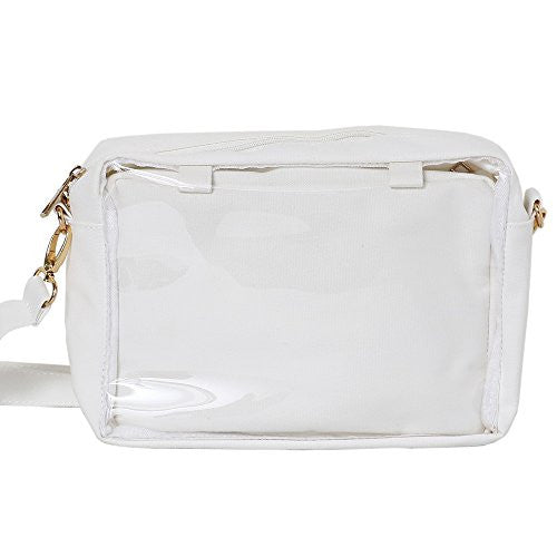 Image 1 for Ita Bag - Clear Tote Bag - Rainbow 2 way Poach - White