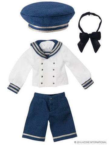 Doll Clothes - Pureneemo Original Costume - PureNeemo XS Size Costume - Gymnasium Sailor Set II - 1/6 - Blue x Off White (Azone)