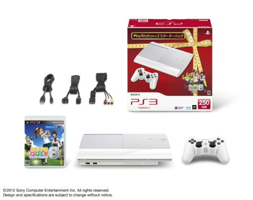 Image 2 for PlayStation3 New Slim Console - Minna no Golf 6 Starter Pack (250GB Classic White Model)
