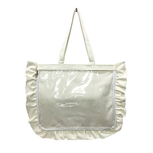 Image 1 for Ita Bag - Clear Tote Bag - Frills - White