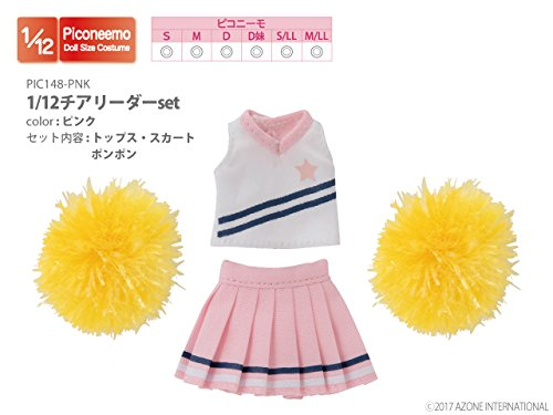 Doll Clothes - Picconeemo Costume - Cheerleader Set - 1/12 - Pink (Azone)