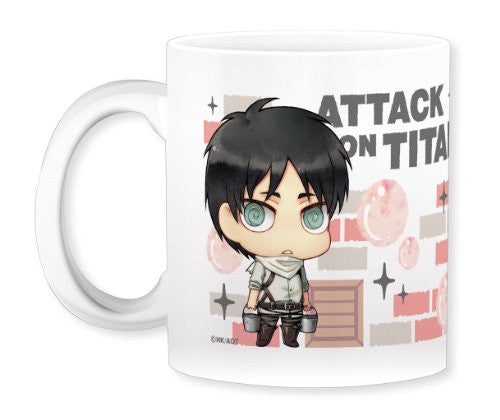 Image 2 for Shingeki no Kyojin - Levi - Eren Yeager - Mug - Cleaning ver. (Gift)