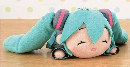 Vocaloid - Hatsune Miku - Nesoberi Cushion - Plush Strap - happy