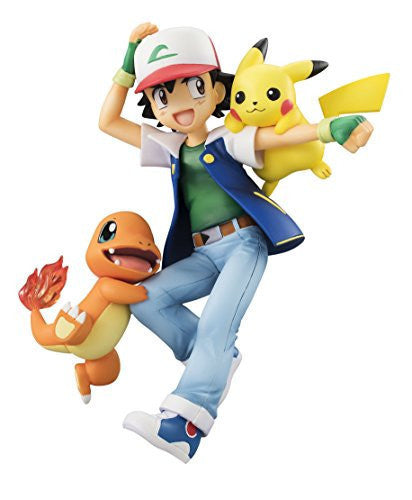 Image 1 for Pocket Monsters - Hitokage - Pikachu - Satoshi - G.E.M. (MegaHouse)
