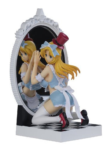 Image for Kagami no Kuni no Alice - Alice - Fairy Tale Figure - 1/8 - Blue Dress ver. (Kaitendoh, Lechery)