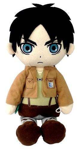 Image 1 for Shingeki no Kyojin - Eren Yeager - Kuttari Cushion - S (Bandai)