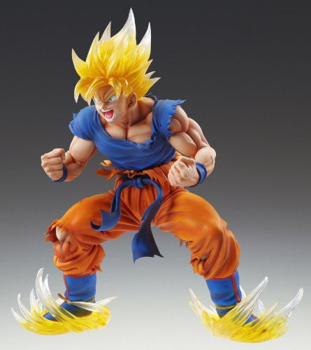 Image 2 for Dragon Ball Kai - Son Goku SSJ - Super Figure Art Collection - 1/8 - Ver. 2 Clear Hair Ver. (Medicos Entertainment)