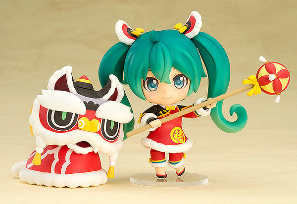 Image 1 for Vocaloid - Hatsune Miku - Nendoroid #654 - Lion Dance Ver. (Good Smile Company)