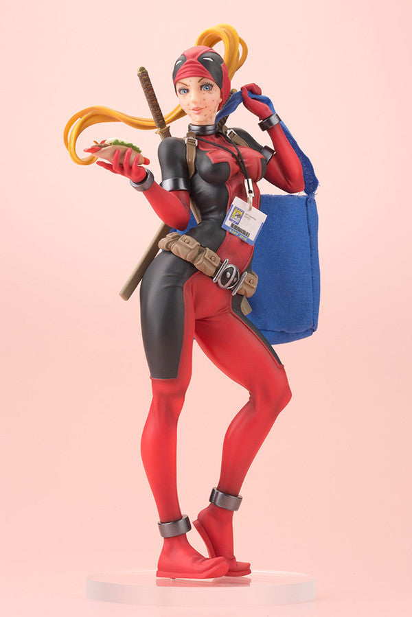 Image 1 for Deadpool - Lady Deadpool - Bishoujo Statue - 1/7 - Comic Con Ittekimashita Ver. (Kotobukiya)