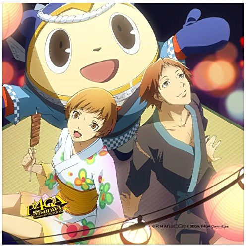Image 1 for Persona 4: the Golden Animation - Hanamura Yousuke - Satonaka Chie - Kuma - Mini Towel (M's)