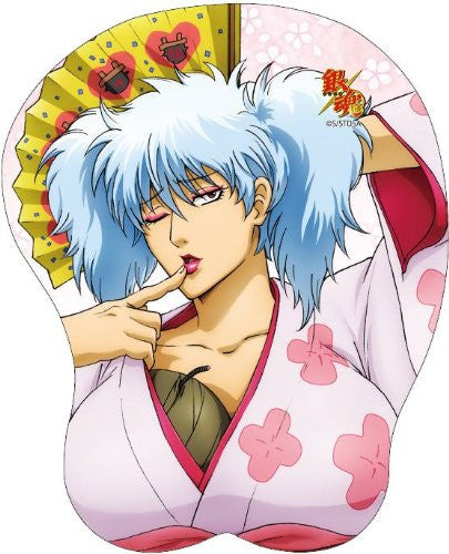 Image 1 for Gintama - Sakata Gintoki - Oppai Mousepad (Broccoli)