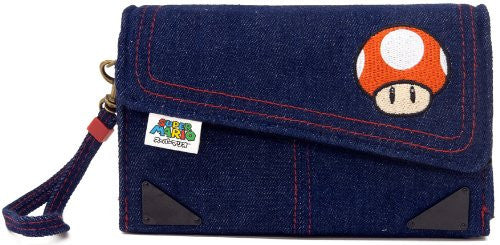 Image 1 for Denim Case for 3DS (Toadstool Edition)
