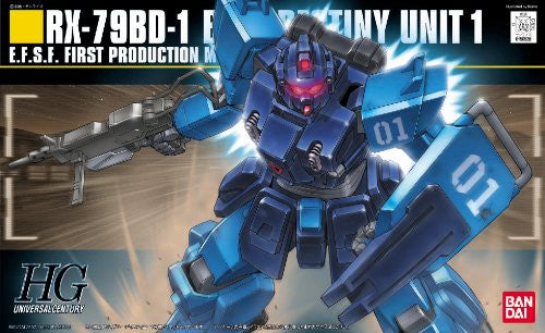 Image 1 for Kidou Senshi Gundam: Dai 08 MS Shotai - RX-79BD-1 GM Blue Destiny Unit 1 - HGUC 080 - 1/144 (Bandai)