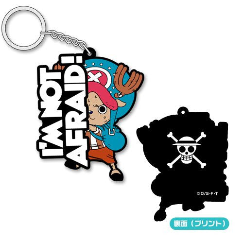 Image 1 for One Piece - Tony Tony Chopper - Keyholder - Rubber Keychain - I'm Not Afraid! (Cospa)