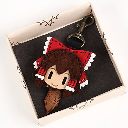 Image 2 for Touhou Project - Hakurei Reimu - Hand Made Leather Key Cap