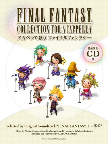 Image 1 for Final Fantasy Collection For A Cappella Sheet Music Book W/Cd