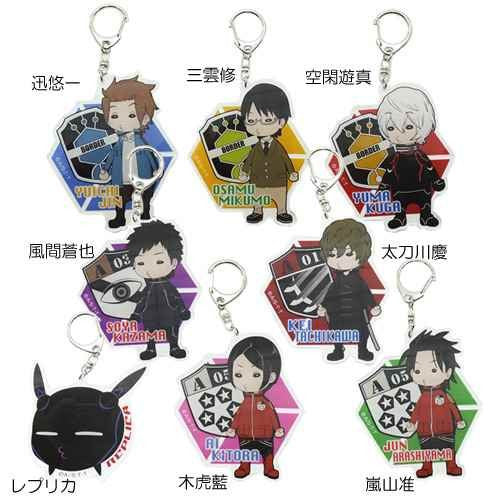 Image 2 for World Trigger - Arashiyama Jun - Keyholder (Hasepro)