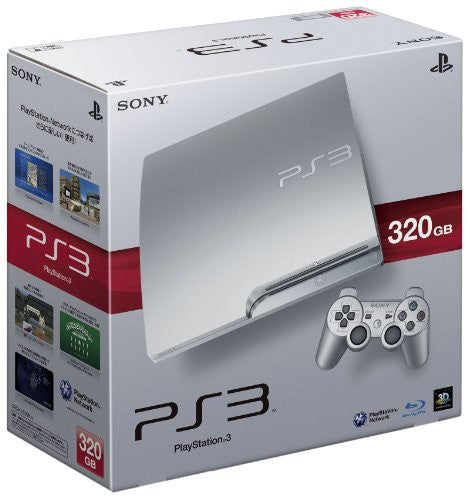 PlayStation3 Slim Console (HDD 320GB Satin Silver Model) - 110V