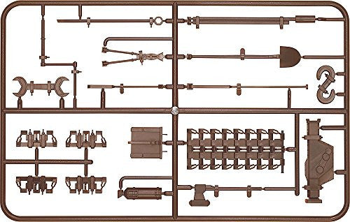 Image 1 for Girls und Panzer - Figma Vehicles - Panzer IV Ausf. D Tank Equipment Set (Brown) - 1/12 (Max Factory)